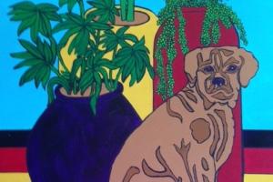 Prince With Pots Acrylic 18 x 24