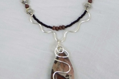 Wire Wrapped Red Jasper